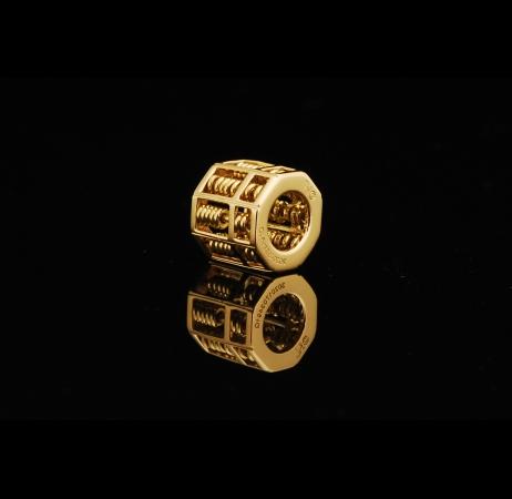 Octagon Abacus 18K Pendant -Yellow