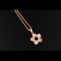 Flower MOP 18K Diamond Pendant