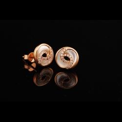 Flower MOP 18K Diamond Earrings