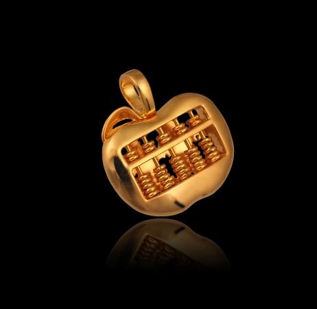 Apple Abacus Pendant