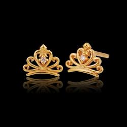 Tiara 916 with 1 Diamond Earring