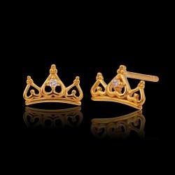 Tiara Crown 916 with 1 Diamond Earring