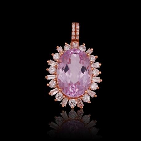 Kunzite pendant ii jewellery e store by teng huat kunzite pendant ii mozeypictures Gallery