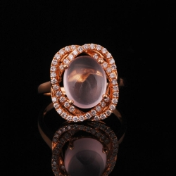 Rose Quartz Lady's Ring