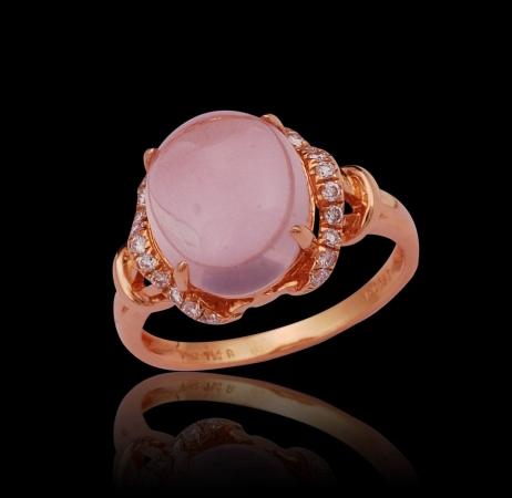 Rose Quartz Lady's Ring II