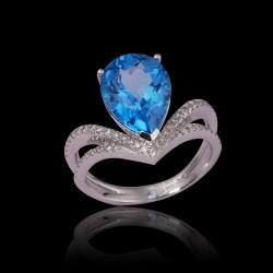 Blue Topaz Lady's Ring