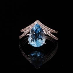 Sky Blue Topaz Lady's Ring