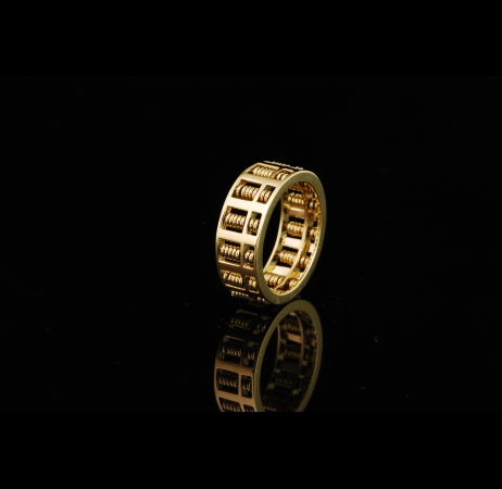 Classic Abacus 18K Ring