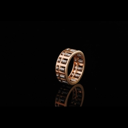 Classic Abacus Two Tone 18K Ring
